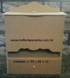 Porta Fraldas mdf cru com gaveta - 6mm
