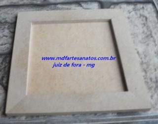 Quadrinho quadrado mdf cru 25x25x01 - 9mm