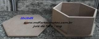Caixa Sextavada - mdf 6mm
