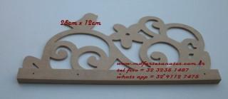 Porta Chaves provençal mdf cru - 3mm