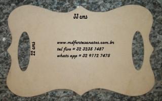 Placa de Casamento lisa 33x22 - mdf 3mm