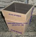 Cachepot mdf cru 15x15x10 - 6mm