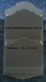 Porta Cartas em mdf cru - Duplo - 6mm