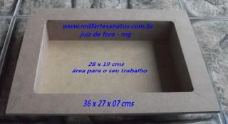 Caixa retangular cenário mdf cru - 6mm