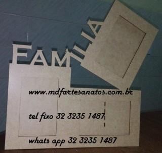Porta Retrato Trio - Família