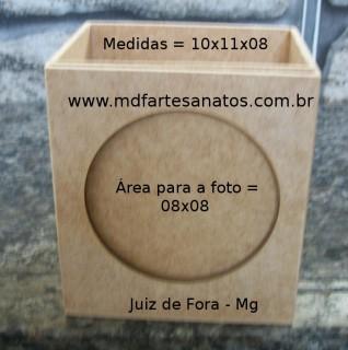 Porta lápis em mdf com foto - 3mm