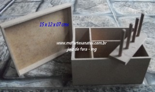 Mini Caixa Costura mdf cru - 15x12x07 - 3mm