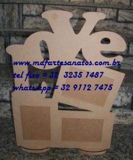Porta retrato LoVe - mdf 6mm  - 43x33