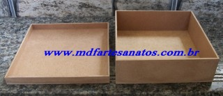 Caixa mdf cru 20x20x06 - 3mm