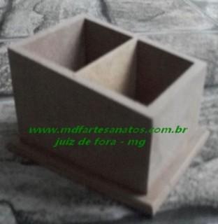 Porta Controle remoto mdf cru 2 baias diagonal - 6mm