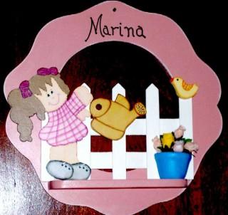 Guirlanda maternidade mdf cru  - Marina - 6mm