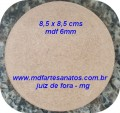 Base mdf cru biscuit 8,5 x 8,5 - mdf 6mm ( unidade )