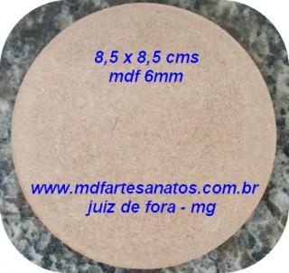 Base mdf cru biscuit 8,5 x 8,5 - mdf 6mm ( unidade )