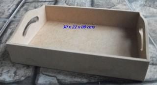 Bandeja Retangular 30x22x08 - mdf 6mm