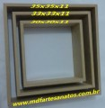 Nicho quadrado mdf cru - Trio - 9mm - 35x35x11
