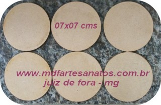 Base mdf cru biscuit 07x07 cms - 3mm