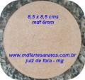 Base mdf cru biscuit redonda 10cms de diâmetro - mdf 6mm ( unidade )