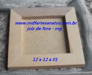 Quadrinho quadrado mdf cru 12x12x01 - 9mm