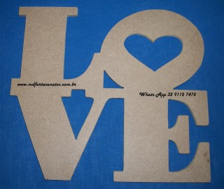 Love Agrupado mdf 6mm medindo 28x25
