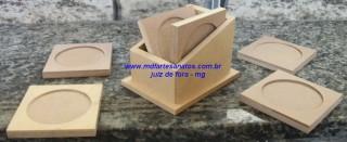 Porta Copos mdf cru - 12x7 -6mm
