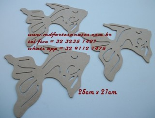 Border de varanda - trio de peixes 25x21 - mdf 3mm